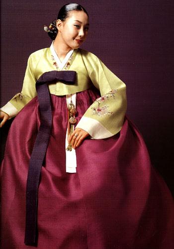 hanbok - tradycyjne wdzianko koreańskie