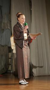 Aneta Rogula w kimonie japońskim